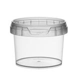Afbeeldingen van TP Plastic pot rond 120ml met veiligheidssluiting inclusief deksel