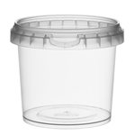 Afbeeldingen van TP Plastic pot rond 365ml met veiligheidssluiting inclusief deksel