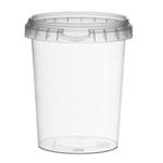 Afbeeldingen van TP Plastic pot rond 520ml met veiligheidssluiting inclusief deksel