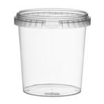 Afbeeldingen van TP Plastic pot rond 870ml met veiligheidssluiting inclusief deksel