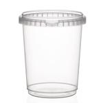 Afbeeldingen van TP Plastic pot rond 1025ml met veiligheidssluiting inclusief deksel