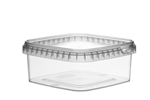 Afbeeldingen van TPS Plastic pot vierkant 500ml met veiligheidssluiting inclusief deksel
