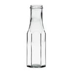 Afbeeldingen van Sausfles hexagonaal  250ml glas TO43 clear