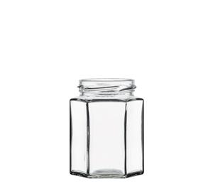 Afbeelding van Bokaal Hexagonaal 280ml glas 6 facetten TO63 clear
