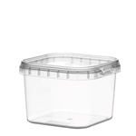 Afbeeldingen van TPS Plastic pot vierkant 225ml met veiligheidssluiting inclusief deksel