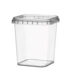 Afbeeldingen van TPS Plastic pot vierkant 365ml met veiligheidssluiting inclusief deksel