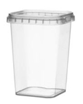 Afbeeldingen van TPS Plastic pot vierkant 425ml met veiligheidssluiting inclusief deksel