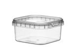 Afbeeldingen van TPS Plastic pot vierkant 150ml met veiligheidssluiting inclusief deksel