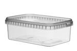 Afbeeldingen van TPR Plastic pot rechthoekig 1000ml met veiligheidssluiting inclusief deksel