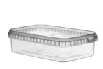 Afbeeldingen van TPR Plastic pot rechthoekig 750ml met veiligheidssluiting inclusief deksel