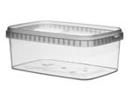 Afbeeldingen van TPR Plastic pot rechthoekig 1200ml met veiligheidssluiting inclusief deksel
