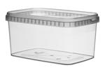 Afbeeldingen van TPR Plastic pot rechthoekig 1600ml met veiligheidssluiting inclusief deksel